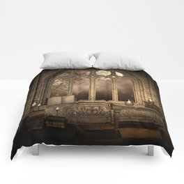 Gothic Library Window Comforters