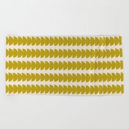 Maude Pattern - Moss Green Beach Towel