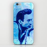 johnny cash iPhone & iPod Skins featuring Johnny Cash by Jason Hughes