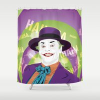 1989 Shower Curtains featuring The Joker 1989 by Nile
