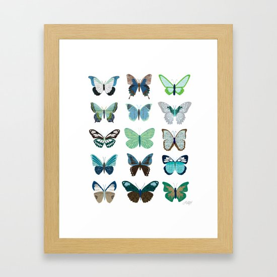 Green and Blue Butterflies by lindseykaynichols