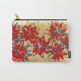 Painted Flowers Carry-All Pouch