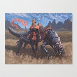 Magus Dragoon Canvas Print