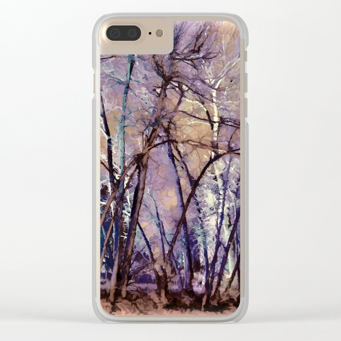 Trees are Poems That the Earth Writes Upon the Sky Clear iPhone Case