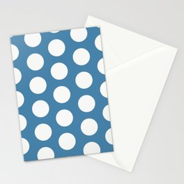 Large Polka Dots on Blue Stationery Cards
