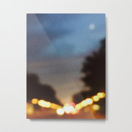 City Bokeh Metal Print