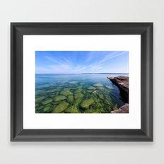 Serenity Swim in Lake Superior Framed Art Print