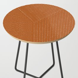 Lines (Rust) Side Table