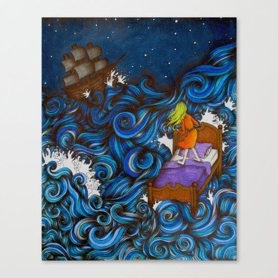 Dreaming By the Sea Canvas Print