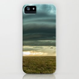 Filling the Void - Layered Storm in Western Nebraska iPhone Case