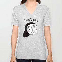I don't care Unisex V-Neck