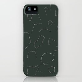 Skinny Shapes Kale iPhone Case