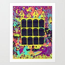 2014 Fantasy Wall Calendar (Color 1) Art Print