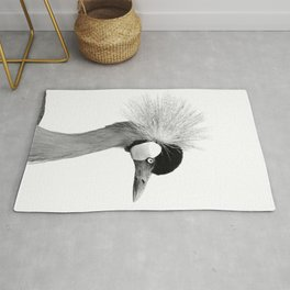 Exotic Crowned Crane Rug