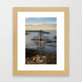 Wrought Iron Cross on Blassenstein Mountain, Austria Framed Art Print