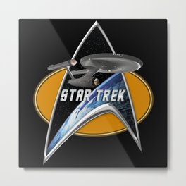 StarTrek Enterprise 1701 Command Signia Ches Metal Print