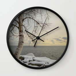 Curves of the Silver Birch by Teresa Thompson Wall Clock