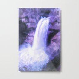 Colorful Waterfall Metal Print
