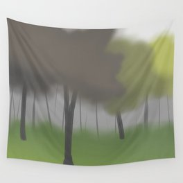 Forest in Mist Wall Tapestry