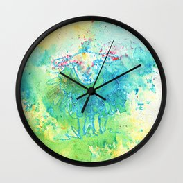 Aglow in the Meadow Wall Clock