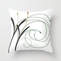 grass Throw Pillows featuring Grass by DistinctyDesign
