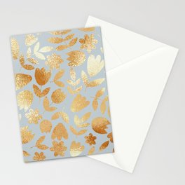 Seamless patterm with gold flowers Stationery Cards