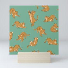 Orange Kitties Mini Art Print