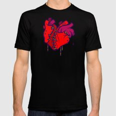 Two Hearts Mens Fitted Tee Black MEDIUM