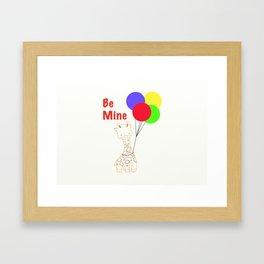Be Mine on Valentine's Day Framed Art Print