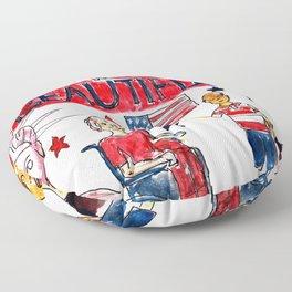 America the Beautiful Floor Pillow