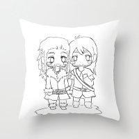 """fili Throw Pillows featuring Fili & Kili """" the hobbit"""" by Selis Starlight"""