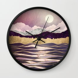 Lunar Waves Wall Clock