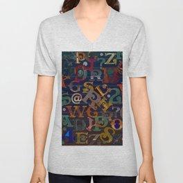 Vintage Alphabet Unisex V-Neck