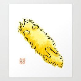 Fluffy Flop Cat Art Print