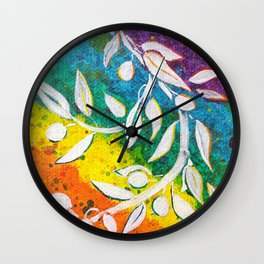 Leaves on the World Tree: The Albanian Olive Wall Clock