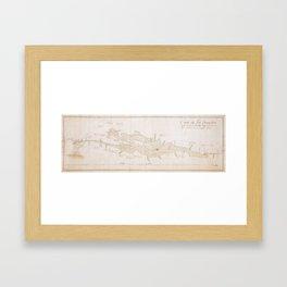 Vintage Map of Lake Champlain (1759) Framed Art Print