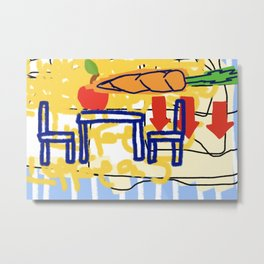 Carrot Table for two Metal Print