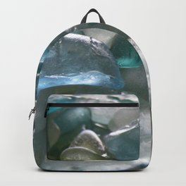 Ocean Hue Sea Glass Assortment Backpack
