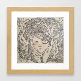 hide Framed Art Print