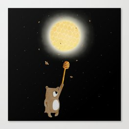 Honey Moon Bear Hunt Canvas Print