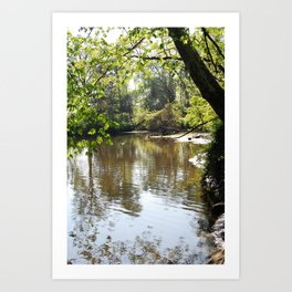 Creek, Philipsburg Manor, Sleepy Hollow NY Art Print