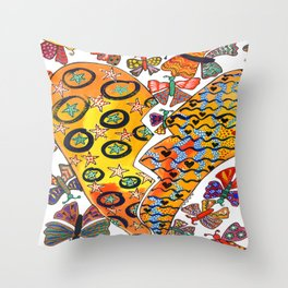 OUT OF A BROKEN HEART COMES NEW LIFE Throw Pillow