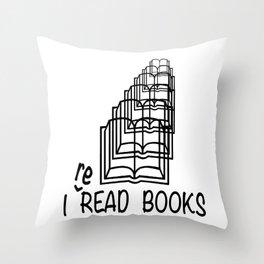 I reREAD books Throw Pillow