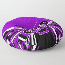 Purple, Black and White Cheerleader Design Floor Pillow