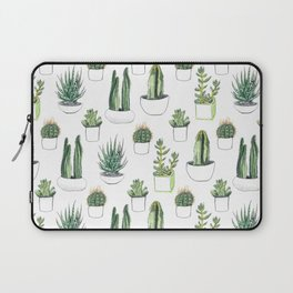 Watercolour Cacti & Succulents Laptop Sleeve