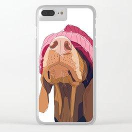 Vizsla Valentine Clear iPhone Case