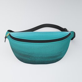 Ombre background in turquoise Fanny Pack