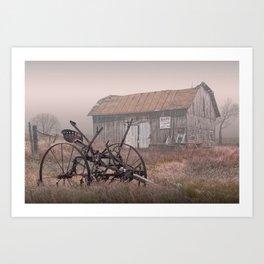 Barn for Sale in the Fog Art Print