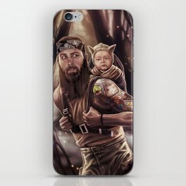 Father and Son Swamp Training iPhone Skin