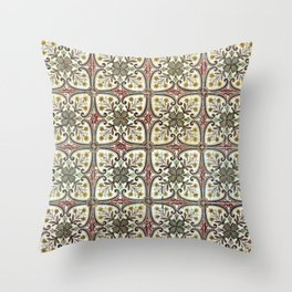 Floor Series: Peranakan Tiles 11 Throw Pillow